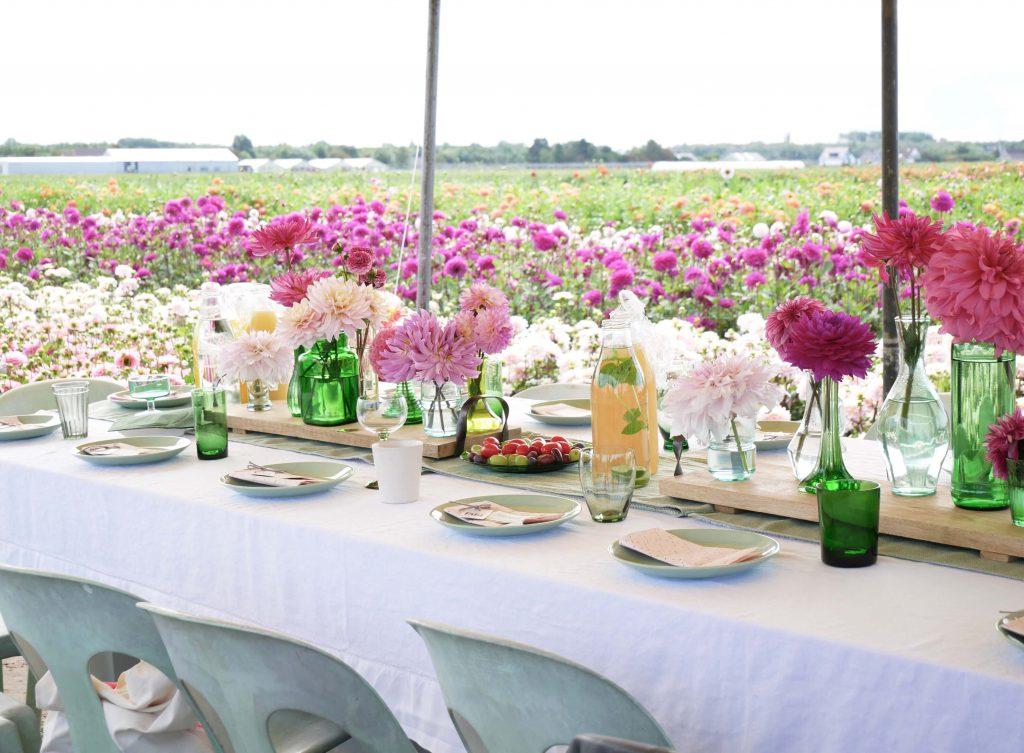 Lunch bij Fam Flower Farm