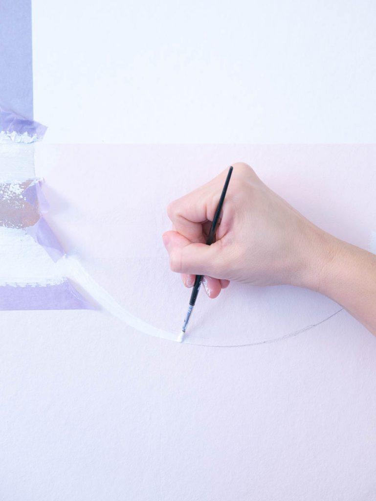 Rond vlak op muur schilderen