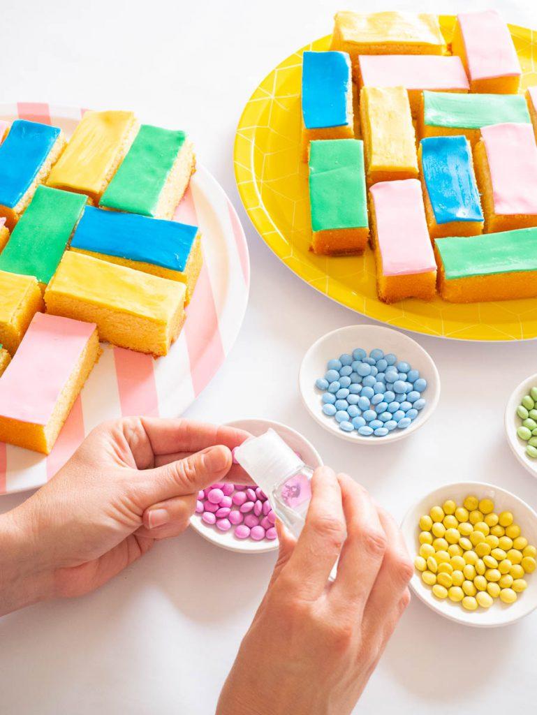 Lego blokjes van cake